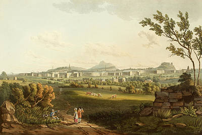Edinburgh From The North West Print by British Library