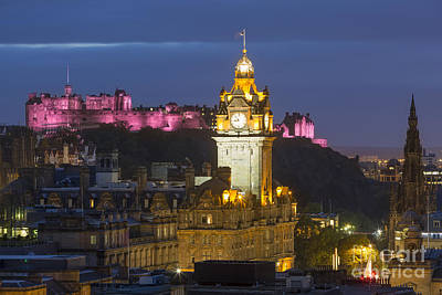 Edinburgh Night Print by Brian Jannsen
