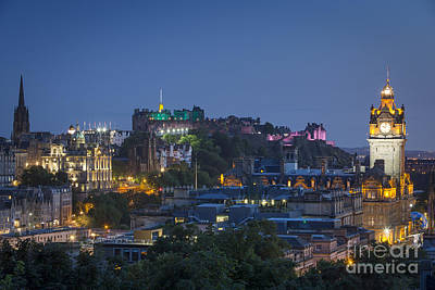 Edinburgh Twilight Print by Brian Jannsen