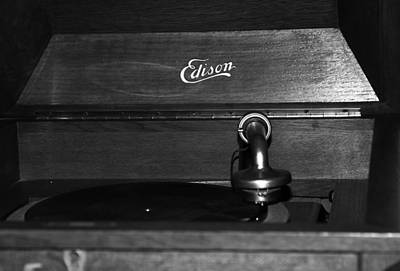 Edison Record Player Print by Dan Sproul