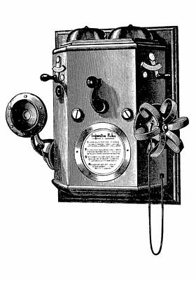 Edison Telephone In A Wall-mounted Box Print by Universal History Archive/uig