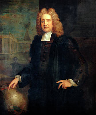 Edmond Halley Print by Bodleian Museum/oxford University Images