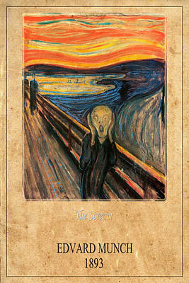 Edvard Munch 1 Print by Andrew Fare