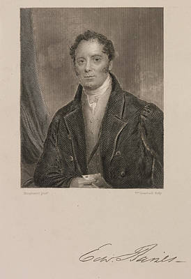Edward Baines Print by British Library