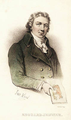 Edward Jenner Print by National Library Of Medicine