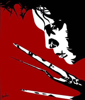 Edward Scissorhands Painting - Edward Scissorhands by Ian  King