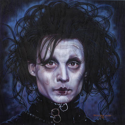 Johnny Depp Painting - Edward Scissorhands by Tim  Scoggins