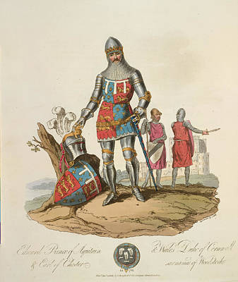 Edward The Black Prince Print by British Library