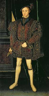 Tudor Painting - Edward Vi 1537-53 by Guillaume Scrots