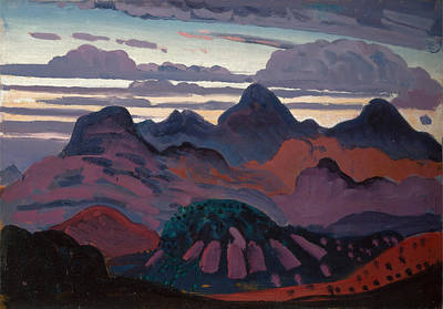 Dickson Painting - Deep Twilight Pyrenees by James Dickson Innes