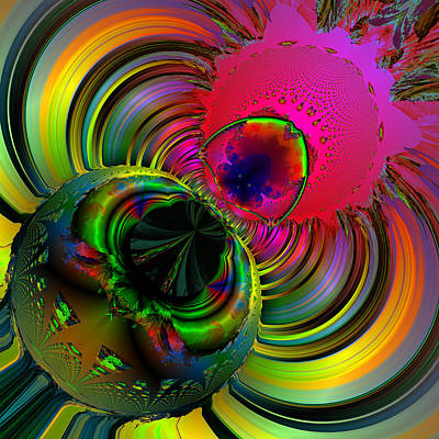 Contemporary Abstract Digital Art - Eetsy Weetsy Spider Ocf 67 by Claude McCoy