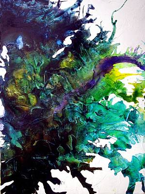 Abstracto Mixed Media - Effloresce Left by Holly Anderson