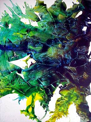 Abstracto Mixed Media - Effloresce Right by Holly Anderson