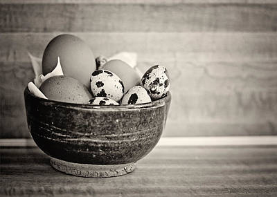 Still Life Photograph - Egg Bowl Bw by Heather Applegate