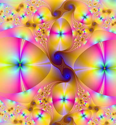 Fractals Digital Art - Egg Shapes by Ester  Rogers