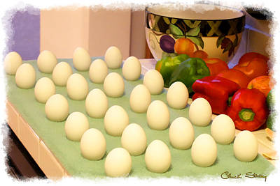 Eggs On Parade Print by Chuck Staley