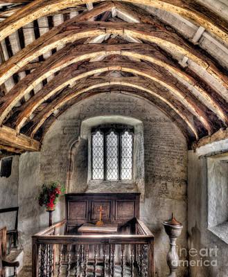 Beam Digital Art - Eglwys Celynnin Sant by Adrian Evans