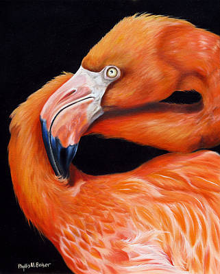 Greater Flamingo Painting - EGO by Phyllis Beiser