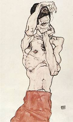Basquiat Drawing - Egon Schiele      by Celestial Images