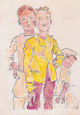 Egon's Three Boys Original by Adrienne Dreed