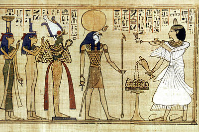 Papyrus Painting - Egypt Book Of The Dead by Granger