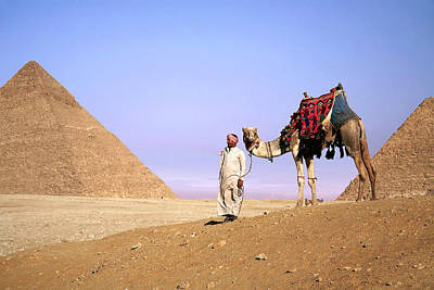 Africa-north Photograph - Egypt, Cairo, Giza, A Proud Egyptian by Miva Stock