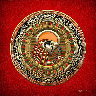Egyptian Sun God Ra Print by Serge Averbukh
