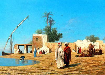Egyptian Village Print by Munir Alawi