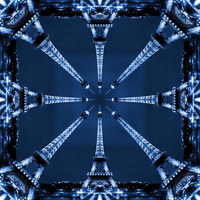 Abstract Pop Digital Art - Eiffel Art 32 by Mike McGlothlen