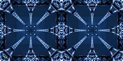 Abstract Pop Digital Art - Eiffel Art 32a by Mike McGlothlen