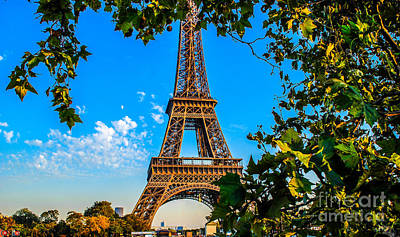 Eiffel In Green Original by Remi D Photography