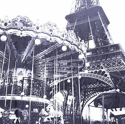 Cdkirven Mixed Media - Eiffel Playground by CD Kirven
