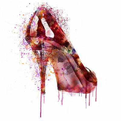 Fetish Digital Art - Eiffel Tower Shoe by Marian Voicu