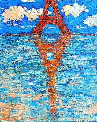 Eiffel Tower Abstract Impression Print by Ana Maria Edulescu