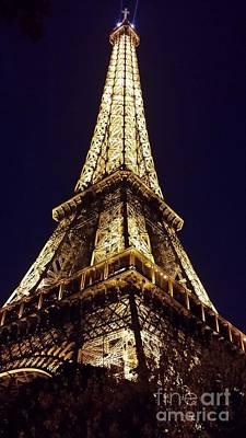 World Tour Digital Art - Eiffel Tower At Night by Patricia Awapara