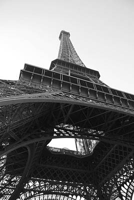 Eiffel Tower B/w Print by Jennifer Ancker