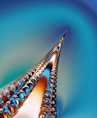 Silver Turquoise Painting - Eiffel Tower Beauty by Faye Giblin