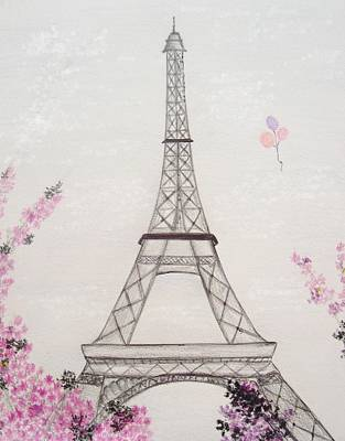 Eiffel Tower Drawing - Eiffel Tower  by Christine Corretti