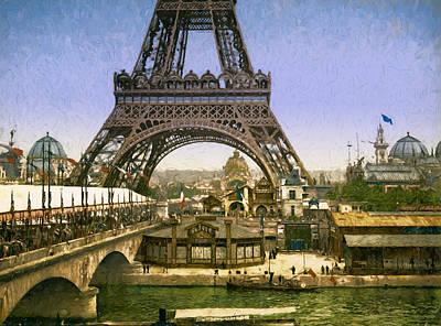 Eiffel Tower World's Fair Print by John K Woodruff