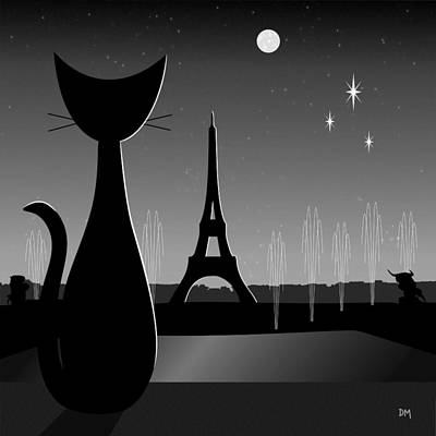 Eiffel Tower Print by Donna Mibus