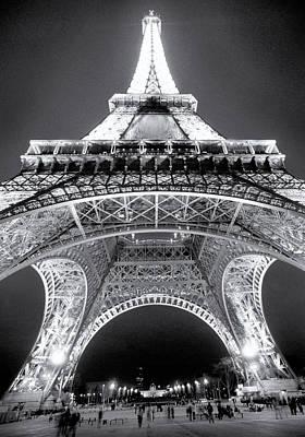 Eiffel Tower Print by John Gusky