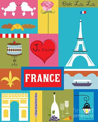 Paris Digital Art - Eiffel Tower by Karen Young