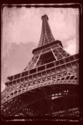 Eiffel Tower - Old Style Print by Patricia Awapara