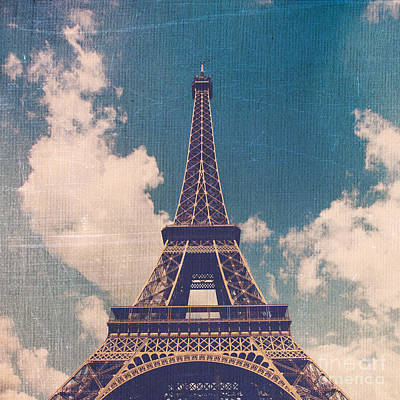 Texture Photograph - Eiffel Tower On A Sunny Day by Maren Misner