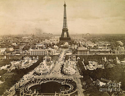Eiffel Tower, Paris, 1900 Print by Granger