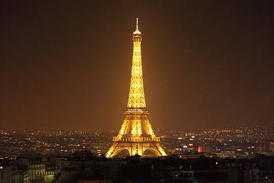 Eiffel Tower - Paris France - 01132 Print by DC Photographer