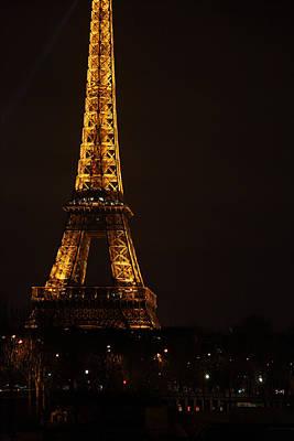 Eiffel Tower - Paris France - 011323 Print by DC Photographer