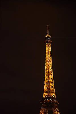 Eiffel Tower - Paris France - 011327 Print by DC Photographer