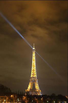 Lamp Photograph - Eiffel Tower - Paris France - 011349 by DC Photographer