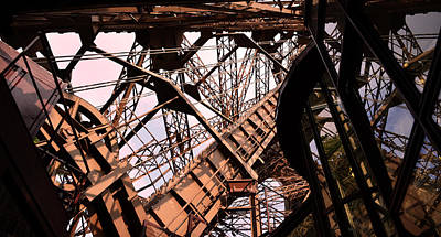 Strong Contrasts Photograph - Eiffel Tower Paris France Close Up by Patricia Awapara